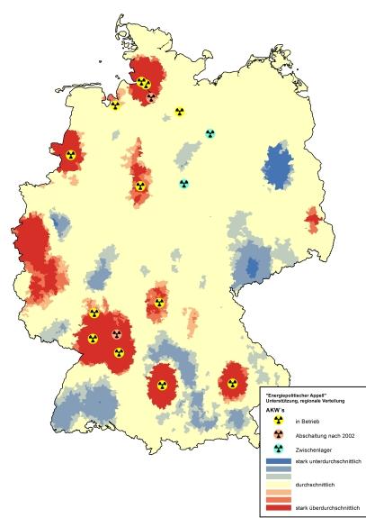 Unterzeichnerdichte: Hotspots (rot) & Coldspots (blau)